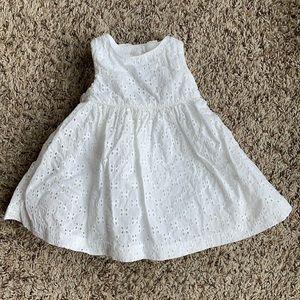 Dressed Up by Gymboree white eyelet dress 3-6 mo
